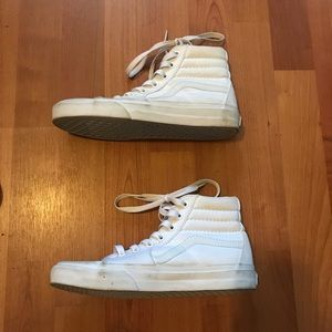 Vans Shoes - White high top vans